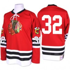 Chicago Blackhawks #32 Michal Rozsival Authentic Red Mitchell and Ness 1960-61 Throwback Jersey