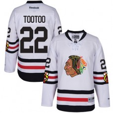 Kid's Chicago Blackhawks #22 Jordin Tootoo Authentic White 2017 Winter Classic Reebok Jersey