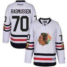Kid's Chicago Blackhawks #70 Dennis Rasmussen Authentic White 2017 Winter Classic Reebok Jersey