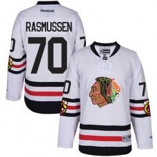 Kid's Chicago Blackhawks #70 Dennis Rasmussen Premier White 2017 Winter Classic Reebok Jersey