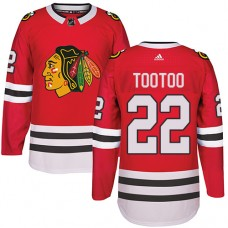 Chicago Blackhawks #22 Jordin Tootoo Authentic Red Home Adidas Jersey