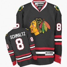 Chicago Blackhawks #8 Nick Schmaltz Authentic Black Third Reebok Jersey