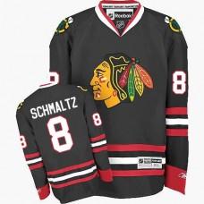 Chicago Blackhawks #8 Nick Schmaltz Premier Black Third Reebok Jersey