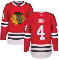 Kid's Chicago Blackhawks #4 Bobby Orr Authentic Red Home Adidas Jersey
