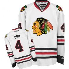 Kid's Chicago Blackhawks #4 Bobby Orr Premier White Away Reebok Jersey