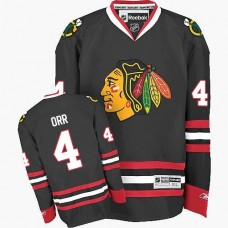 Kid's Chicago Blackhawks #4 Bobby Orr Premier Black Third Reebok Jersey