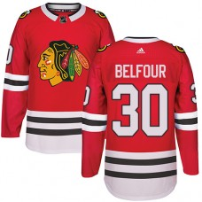 Kid's Chicago Blackhawks #30 ED Belfour Authentic Red Home Adidas Jersey
