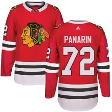 Kid's Chicago Blackhawks #72 Artemi Panarin Premier Red Home Adidas Jersey