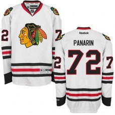 Kid's Chicago Blackhawks #72 Artemi Panarin Authentic White Away Reebok Jersey