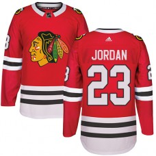Chicago Blackhawks #23 Michael Jordan Authentic Red Home Adidas Jersey