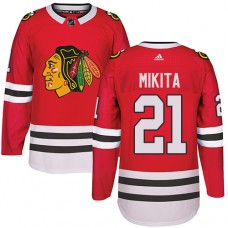 Chicago Blackhawks #21 Stan Mikita Authentic Red Home Adidas Jersey