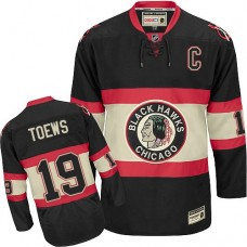 Chicago Blackhawks #19 Jonathan Toews Authentic Black Third CCM Throwback Jersey
