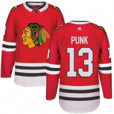 Kid's Chicago Blackhawks #13 CM Punk Authentic Red Home Adidas Jersey