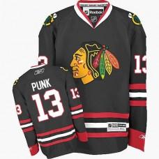 Kid's Chicago Blackhawks #13 CM Punk Premier Black Third Reebok Jersey