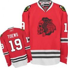 Kid's Chicago Blackhawks #19 Jonathan Toews Authentic Red Red Skull Reebok Jersey
