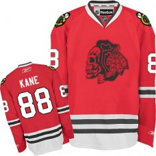 Kid's Chicago Blackhawks #88 Patrick Kane Authentic Red Red Skull Reebok Jersey