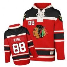 Old Time Hockey Chicago Blackhawks #88 Patrick Kane Authentic Red Sawyer Hooded Sweatshirt