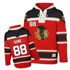 Old Time Hockey Chicago Blackhawks #88 Patrick Kane Premier Red Sawyer Hooded Sweatshirt