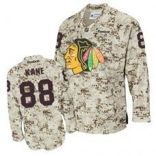 Chicago Blackhawks #88 Patrick Kane Authentic Camouflage Reebok Jersey