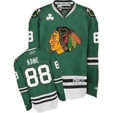 Kid's Chicago Blackhawks #88 Patrick Kane Authentic Green Reebok Jersey