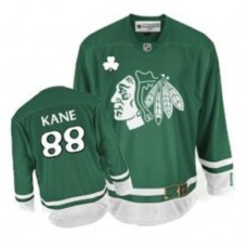 Kid's Chicago Blackhawks #88 Patrick Kane Authentic Green St Patty's Day Reebok Jersey