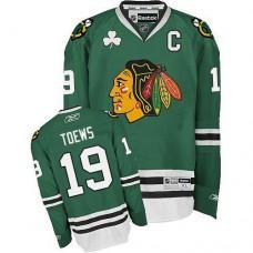 Chicago Blackhawks #19 Jonathan Toews Authentic Green Reebok Jersey