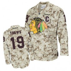 Chicago Blackhawks #19 Jonathan Toews Authentic Camouflage Reebok Jersey
