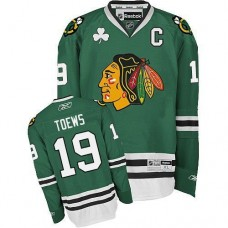Kid's Chicago Blackhawks #19 Jonathan Toews Authentic Green Reebok Jersey