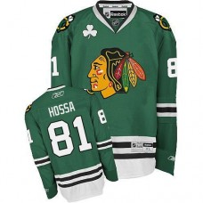 Chicago Blackhawks #81 Marian Hossa Authentic Green Reebok Jersey