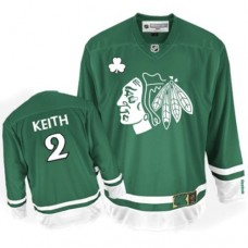 Chicago Blackhawks #2 Duncan Keith Authentic Green St Patty's Day Reebok Jersey