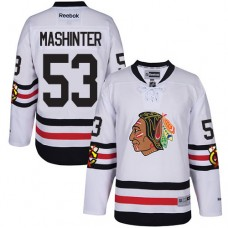 Chicago Blackhawks #53 Brandon Mashinter Authentic White 2017 Winter Classic Reebok Jersey