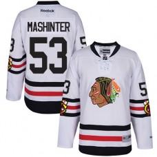Kid's Chicago Blackhawks #53 Brandon Mashinter Premier White 2017 Winter Classic Reebok Jersey