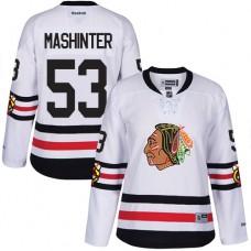Women's Chicago Blackhawks #53 Brandon Mashinter Authentic White 2017 Winter Classic Reebok Jersey