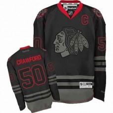 Chicago Blackhawks #50 Corey Crawford Authentic Black Ice Reebok Jersey
