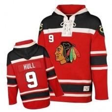 Old Time Hockey Chicago Blackhawks #9 Bobby Hull Authentic Red Sawyer Hooded Sweatshirt
