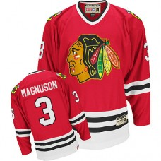 Chicago Blackhawks #3 Keith Magnuson Authentic Red CCM Throwback Jersey