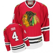 Chicago Blackhawks #4 Bobby Orr Authentic Red CCM Throwback Jersey