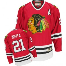 Chicago Blackhawks #21 Stan Mikita Authentic Red CCM Throwback Jersey