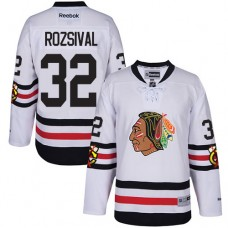 Kid's Chicago Blackhawks #32 Michal Rozsival Premier White 2017 Winter Classic Reebok Jersey
