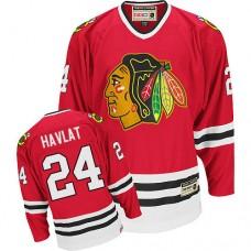 Chicago Blackhawks #24 Martin Havlat Authentic Red CCM Throwback Jersey