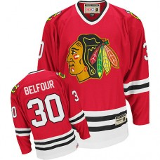Chicago Blackhawks #30 ED Belfour Authentic Red CCM Throwback Jersey
