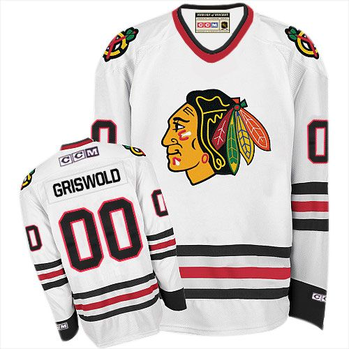 Chicago Blackhawks  00 Clark Griswold Authentic White CCM Throwback Jersey 91a08dcf927