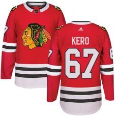 Kid's Chicago Blackhawks #67 Tanner Kero Premier Red Home Adidas Jersey