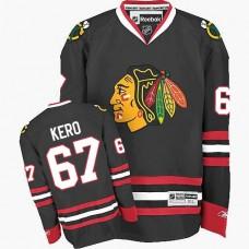 Kid's Chicago Blackhawks #67 Tanner Kero Authentic Black Third Reebok Jersey