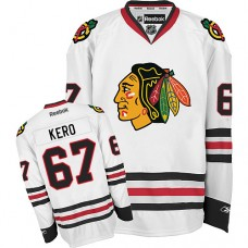 Women's Chicago Blackhawks #67 Tanner Kero Premier White Away Reebok Jersey
