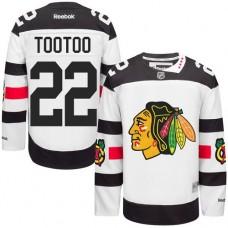 Chicago Blackhawks #22 Jordin Tootoo Authentic White 2016 Stadium Series Reebok Jersey