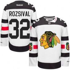 Chicago Blackhawks #32 Michal Rozsival Authentic White 2016 Stadium Series Reebok Jersey
