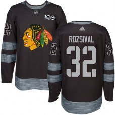 Chicago Blackhawks #32 Michal Rozsival Authentic Black 1917-2017 100th Anniversary Adidas Jersey