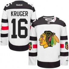 Chicago Blackhawks #16 Marcus Kruger Authentic White 2016 Stadium Series Reebok Jersey