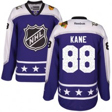 Kid's Chicago Blackhawks #88 Patrick Kane Authentic Purple Central Division 2017 All-Star Reebok Jersey